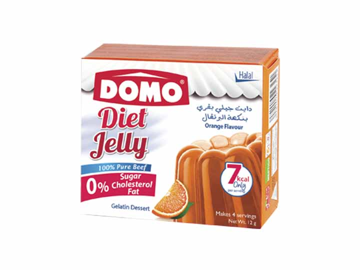 Domo Diet Jelly Beef 12g |  Orange