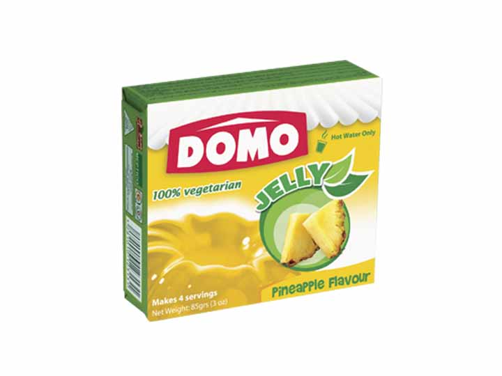 Domo Jelly Vegetarian 85g |  Pineapple