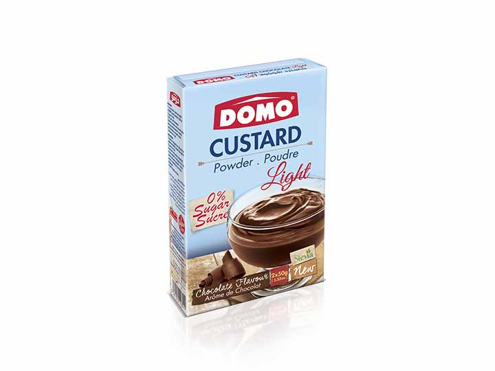 Domo Custard Light 100g |  Chocolate