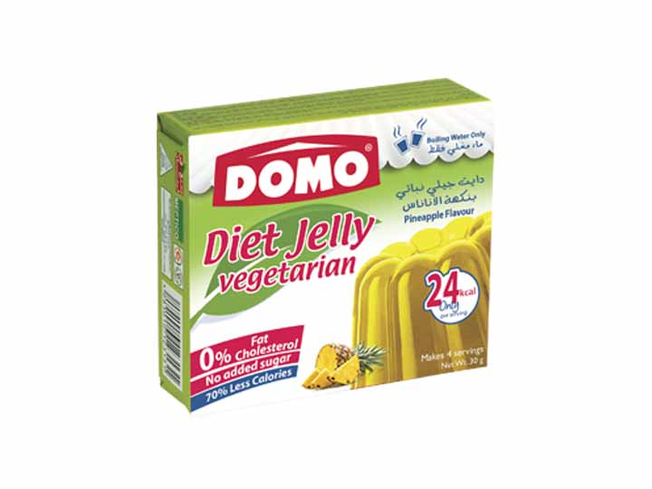 Domo Diet Jelly Vegetarian 30g |  Pineapple