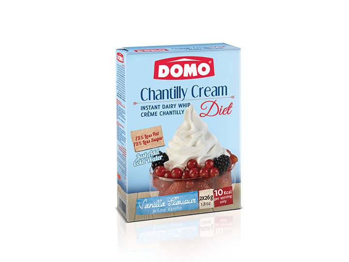 Domo Is A Leader Brand In Homemade Desserts Across Lebanon And Arab Pan Countries Domo Diet Chantilly Cream 72g Vanilla